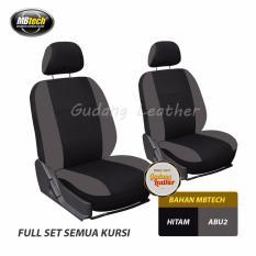 Gudang Leather Sarung Jok Mobil XPANDER 2017 (Hitam-Abu2) MBTECH