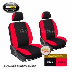 Gudang Leather Sarung Jok Mobil XPANDER 2017 (Hitam-Merah) MBTECH