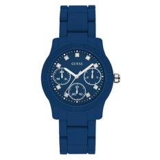 Guess Jam Tangan Wanita Guess W0944L5 Funfetti Blue Silicone Watch