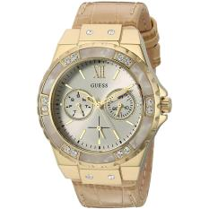 Guess U0775L2 - Jam Tangan Wanita - Multifunction - Rose Gold - Tan Leather 95ec90dd67