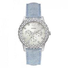 Spesifikasi Guess W0335L7 Dazzler Jam Tangan Wanita Diamond Krystal Denim Stainless Steel Guess Terbaru