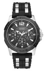Spesifikasi Guess W0366G1 Multifunction Jam Tangan Pria Silver Hitam Lengkap Dengan Harga