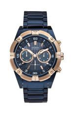 Spesifikasi Guess W0377G4 Chronograph Jam Tangan Pria Biru Stainless Steel Terbaru