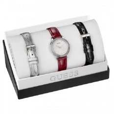 Spesifikasi Guess W0654L1 Boxset Jam Tangan Wanita Merah Kulit Lengkap Dengan Harga