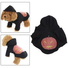 Halloween Labu Dog Dog Dress Hantu Anjing Festival Sweater (Hitam)-M-Intl