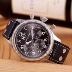 Hamilton Watch Kartu Pilot Interstellar Melalui Rangkaian Yang Sama dengan Otomatis Chronograph Jam Tangan Pria H64666556-Intl
