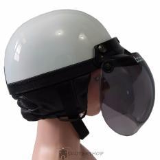 Handmade Helm Chips NEW Retro Kaca Bogo Original White Solid - Putih