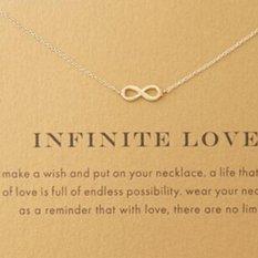 Hanyu Elegan Tiny Kecil Cinta Infinite Cute Klavikula Bang Pendek Kalung Hadir Golden