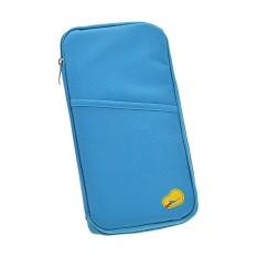 Happycat Fashion Travel Fabric Credit Card Ticket Passportholder Case Cover Wallet Purse Bag Zip Clutch Tote Pocket Handbag014217_Bl