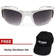 Harga Harley Davidson Semi Rimless Sunglassess 870 Silver Murah