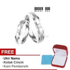 Harmard - Cincin Exclusive dengan USA Diamond untuk Nikah / Kawin / Tunangan - Model 804