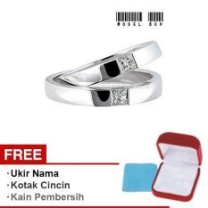 Harmard - Cincin Exclusive dengan USA Diamond untuk Nikah / Kawin / Tunangan - Model 809