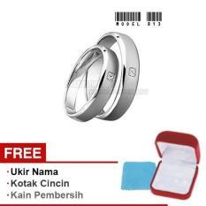 Harmard - Cincin Exclusive dengan USA Diamond untuk Nikah / Kawin / Tunangan - Model 813