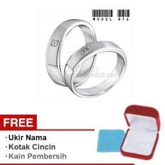Harmard - Cincin Exclusive dengan USA Diamond untuk Nikah / Kawin / Tunangan - Model 816