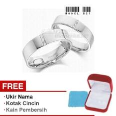 Harmard - Cincin Exclusive dengan USA Diamond untuk Nikah / Kawin / Tunangan - Model 821
