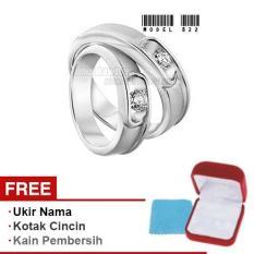 Harmard - Cincin Exclusive dengan USA Diamond untuk Nikah / Kawin / Tunangan - Model 822
