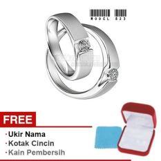 Harmard - Cincin Exclusive dengan USA Diamond untuk Nikah / Kawin / Tunangan - Model 823