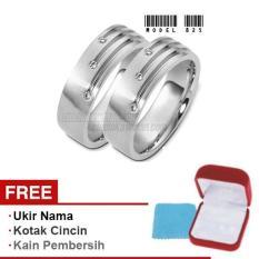Harmard - Cincin Exclusive dengan USA Diamond untuk Nikah / Kawin / Tunangan - Model 825
