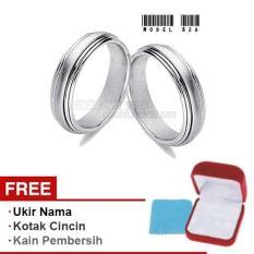 Harmard - Cincin Exclusive dengan USA Diamond untuk Nikah / Kawin / Tunangan - Model 826