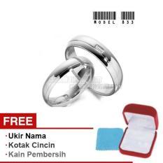 Harmard - Cincin Exclusive dengan USA Diamond untuk Nikah / Kawin / Tunangan - Model 833