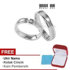 Harmard - Cincin Exclusive dengan USA Diamond untuk Nikah / Kawin / Tunangan - Model 834