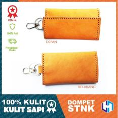 HM Leather - Dompet STNK dan Gantungan Kunci Mobil / Motor - 100% Asli Kulit Sapi - Key Wallet - Model 6720