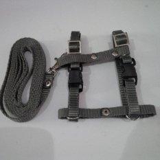 Harness H uk S + Leash Abu-abu Tua untuk Kucing, Kelinci, Musang, Puppy Small breed