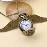 Harga Harry Potter Snitch Pocket Watch Pendant Necklace Steampunk Quidditch Wing Intl Oem Original