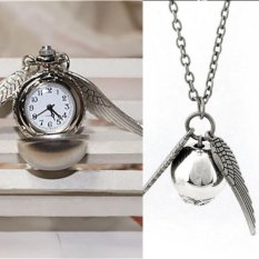 Diskon Besarharry Potter Snitch Watch Necklaces Steampunk Quidditch Pocket Pendant Silver Intl