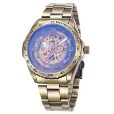 Toko Hazyasm Tag Merek Shenhua Retro Perunggu Watches Pria Fashion Vintage Skeleton Mesin Watch Male Clock Otomatis Self Wind Wrist Watch Emas Intl Lengkap