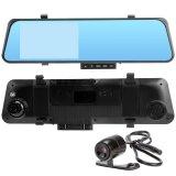 Cuci Gudang Hd 4 3 1080 P 170 ᄚ Lebar Lensa Ganda Kamera Dasbor Mobil G Sensor Kaca Spion Dvr Di With Malam Flash Internasional