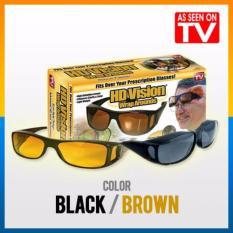 Jual Hd Night Vision Sps Kacamata Sunglass 1 Box Isi 2 Pcs Kuning Dan Hitam Multicolor Original