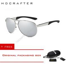 Harga Hdcrafter Aluminium Pria Kacamata Terpolarisasi Mengemudi Olahraga Luar Ruangan Kacamata Merek Desainer Eyewear Dengan Case E030