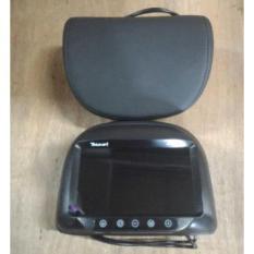 Headrest Monitor / TV Jok Mobil Model Bulat Hitam