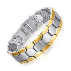 Perawatan Kesehatan Gelang Gelang Sport Desain Sepak Bola Pria Perhiasan Magnet Germanium-Intl