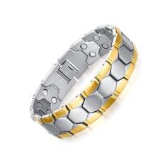 Health Care Bracelets Bangles Sport Football Design Men's Jewelry Magnet Germanium - intl