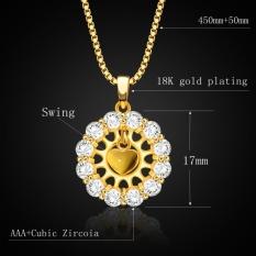 Beli Liontin Bentuk Hati Baru Perhiasan Trendi 18 Karat Berlapis Emas Bunga Kristal Liontin P30132 Dengan Kartu Kredit