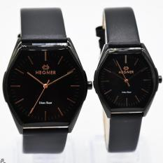 Hegner HGR407GZ Original Watch - Jam Tangan Couple Casual - Leather Strap - Body Stainless