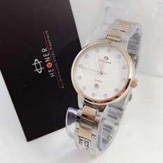 Promo Hegner Hgr5002 Jam Tangan Fashion Wanita Stainless Strap Silver Rosegold Hegner