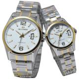 Harga Hegner Jam Tangan Couple Strap Stainless Steel Silver Combi Gold Hg 9009 S Yang Murah Dan Bagus