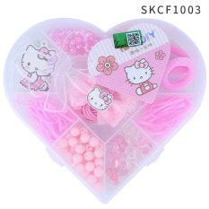Hello Kitty Gadis Rajut Merangkai Manik-manik Anak Merangkai Manik-manik Kalung Gantungan Mutiara