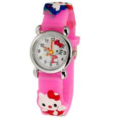 Hello Kitty - Jam Tangan Anak - Pink - Strap Karet - Hellokitty Cutie Watch