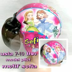 Helm Anak Bogo Usia 7 - 10 Tahun Motif Pilot Sofia