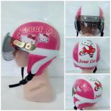 Iklan Helm Anak Retro Karakter Hello Kitty 1 4 Thn Pink Putih