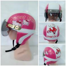 Diskon Helm Anak Retro Karakter Hello Kitty 1 4 Thn Pink Putih Jbx Helmets Di Jawa Timur