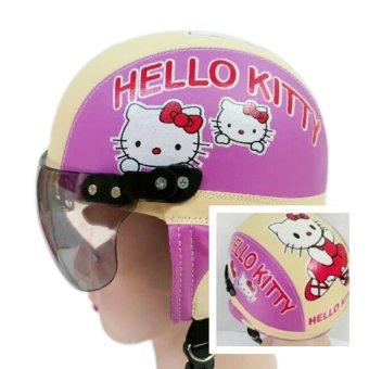 Price Checker Helm Anak Unyu-unyu Model Retro Karakter Hellow Kity [1 - 5
