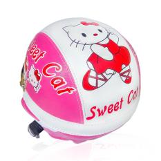 Helm Anak Unyu-unyu Model Retro Karakter Helo Kitty [1 - 4 tahun] - Pink/Putih