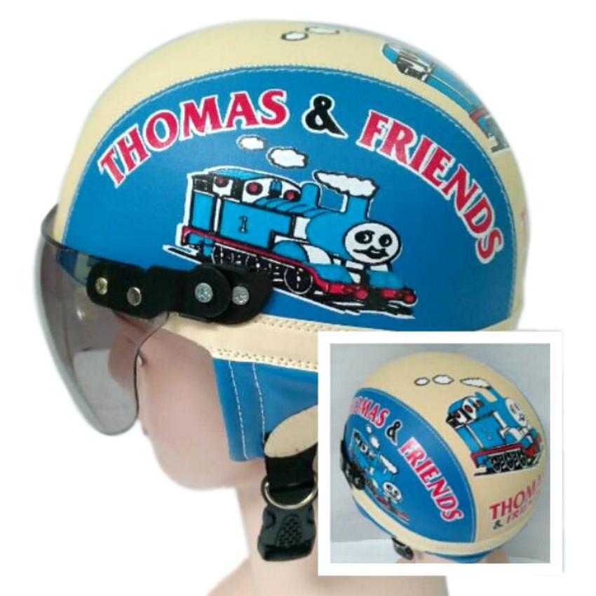 Helm Anak Unyu-unyu Model Retro Karakter Thomas [1 - 5 Tahun] -