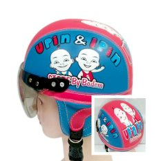 Helm Anak Unyu-unyu Model Retro Karakter Upin-Ipin [1 - 5 Tahun] - Biru Merah