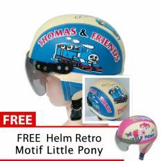 Harga Helm Anak Unyu Unyu Usia 1 5 Tahun Motif Thomas Biru Cream Free Motif Litle Pony Yang Murah